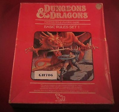 OOP D&D Basic Rules Set 1, missing Dice + 9043 The Isle of Dread 1983  Ref GH706