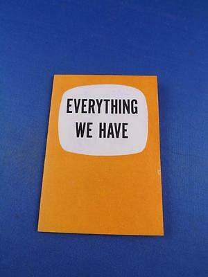 Everything We Have Booklet Canadian Congress Of Labour Information