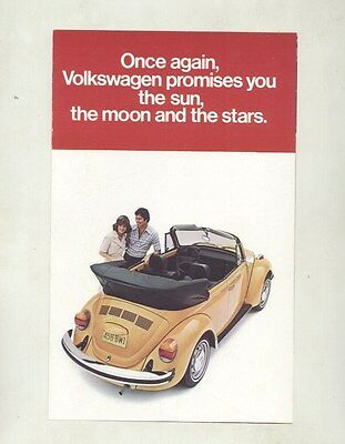 1978 Volkswagen Beetle Convertible Brochure my6852