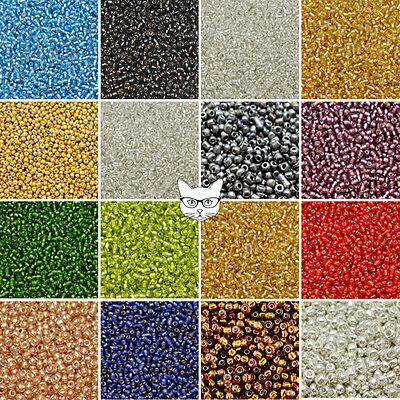 50g Glass Seed Beads Size 8/0 3mm Metallic Silver Lined Jewellery Making Craft