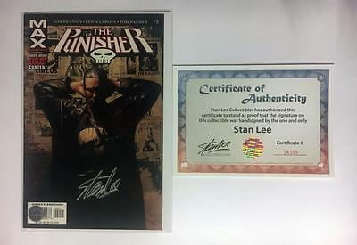 Punisher #2 Signed Stan Lee W/coa Frank Castle Max War Journal Thunderbolts