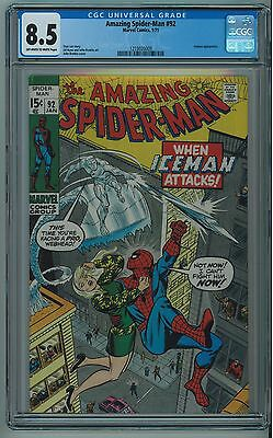 Amazing Spider-Man #92 Cgc 8.5 Romita Cover Off-White To White Pages 1971