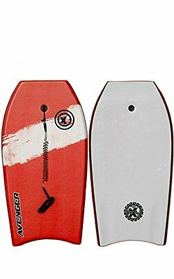 "Triple X ""The Avenger"" 42"" Bodyboard/Red/Crescent Tail/Coil Swivel Leash/PP Core"