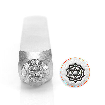 ImpressArt Metal Punch Stamp, Heart Chakra Design 6mm (1/4 Inch), 1 Piece, Steel