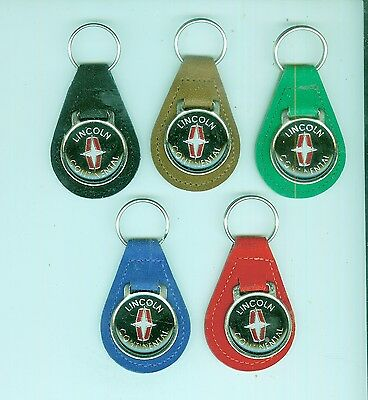 Vintage 1970's/80's Lincoln Continental automobile suede key chain (Pick One!)