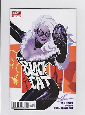 The Black Cat 1 Signed By Amanda Conner W/coa Amazing Spider-Man Marvel Now