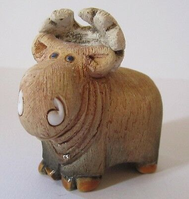 Mighty Mini Moose Hand Formed South American Artisan Signed Figurine