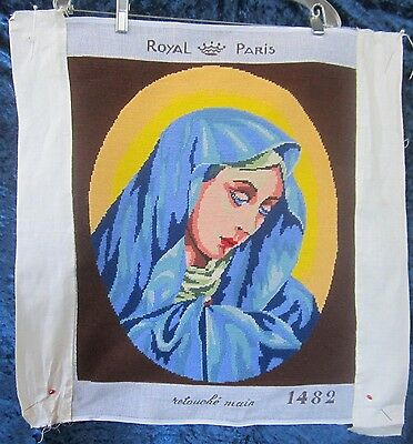 Nicely Done Madonna In Pure Wool Royal Paris needlepoint Tapestry