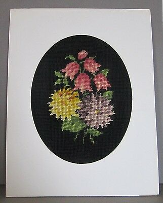 Victorian Charm Ready To Frame Beautiful Wool Needlepoint