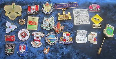 Collection of 23 Ontario Pins Mostly From Eastern Ontario