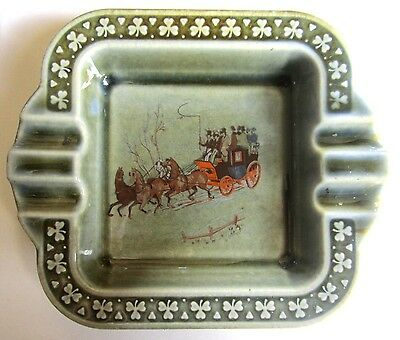 Numbered Made in Ireland Wade Co Armagh Ashtray Shamrocks and 4 up Coach