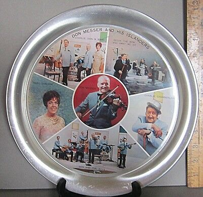 Don Messer and His Islanders Vintage Country Music/Early TV Aluminum Beer Tray