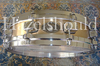 SOUNDFILE! TAMA BELL BRASS 3.25X14 PICCOLO Snare w/ TAMA STARCAST DIECAST HOOPS!