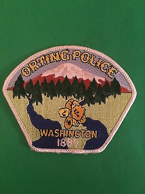 Orting Washington Police   Shoulder  Patch