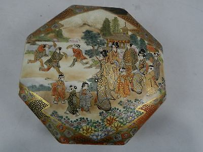 Satsuma Japanese box Signed Meiji era
