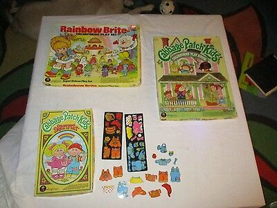 3 COLORFORMS Sets Rainbow Brite & Cabbage Patch Dolls & MORE