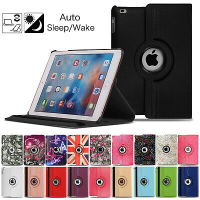 360 Smart Stand Leather Case Cover For Apple iPad 2 3 4 Air Mini Pro 9.7 2018/17