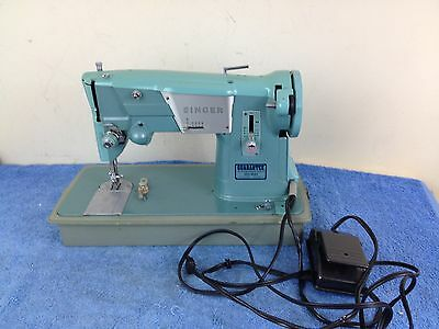 Singer Spartan 327K Turquoise / Aqua Sewing Machine