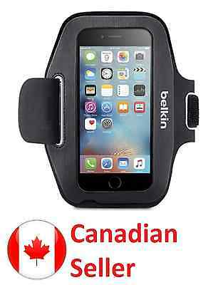 BELKIN Sport-Fit Armband for iPhone 6, 6s and 7 Cell Phone  Black Music Gym 6SA