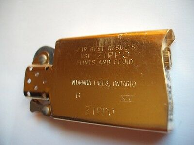 Zippo Niagara Falls Lighter Slim Gold Insert Canada 1999 Vintage New Old Stock