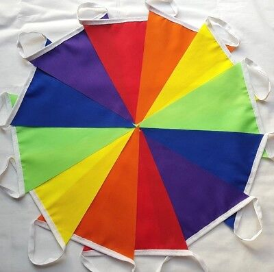 Rainbow Fabric Bunting 30-120ft Bundles 6 colours: R.O.Y.G.B. + Purple Pride