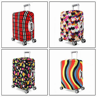 """Elastic Travel Luggage Suitcase Spandex Dust-proof Cover Protector For 22''~ 24"""""""