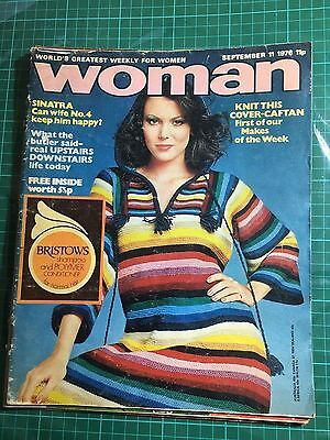 WOMAN MAGAZINE 11th SEPTEMBER 1976 USED NO FREE GIFT INSIDE
