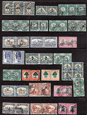 GV/GVI South Africa used bilingual pairs and multiples to 1/-