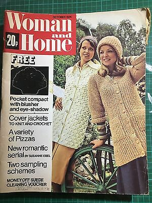 Woman And Home Magazine October 1974 Used No Free Gift