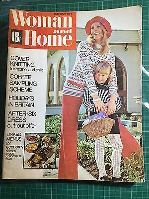 Woman And Home Magazine February 1974 Used