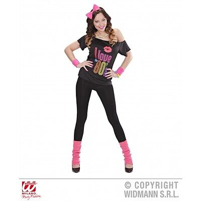 Ladies Womens 80s Girl Costume Outfit for Eighties Fancy Dress