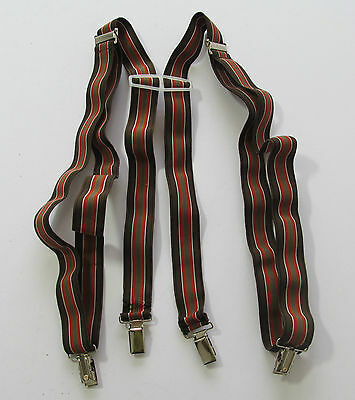 "Vintage Retro unisex multi clip on elasticated braces suspenders 41"" R15115"