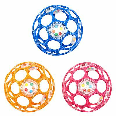 Oball With Rattle *ORANGE*, *BLUE* OR *PINK* Fun Baby Toy Ball NEW