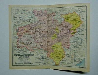 EX IMPERIAL GAZETTEER INDIA Antique Map of India Central Provinces and Berar 193