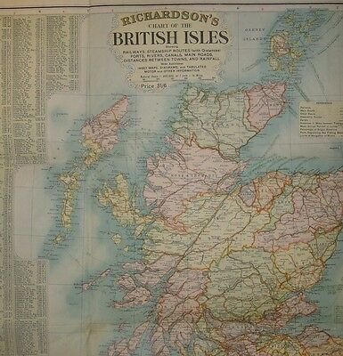 BACON New Chart of the British Isles, 1916 1916