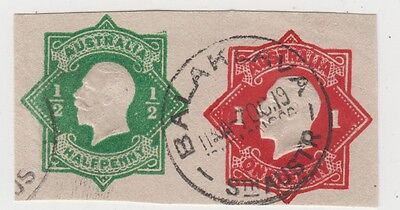 Stamp Australia 1d red pre-printed KGV octagonal uprated with 1/2d war tax piece