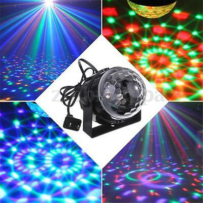 5W RGB LED Voice Control Party Disco Club Crystal Magic Ball Effect Stage Light
