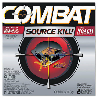 """Source Kill Large Roach Killing System, Child-Resistant Disc, 8/pk, 12 Pk/ct"""