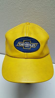 Vintage Chevy Hat Chevrolet Patch Young An Adjustable Snapback Yellow Vinyl