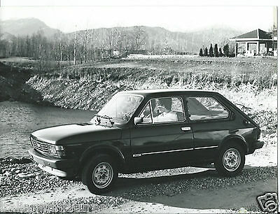 Fiat 127 Diesel Press Photograph Excellent Condition Circa 1980 Car By a Lake