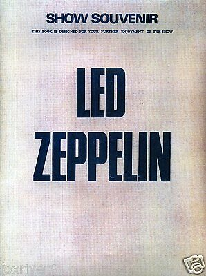 LED ZEPPELIN 'Show Souvenir 1973' 3-Page Press Pack Signed by All 4 - preprint