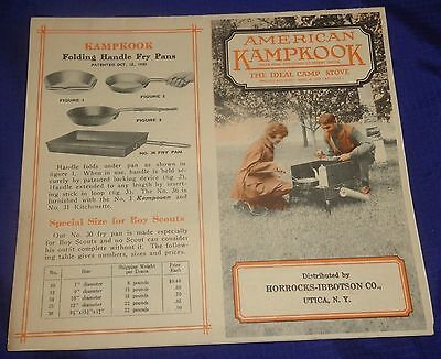 AM118 Vtg American Kampkook Folding Gas Camp Stove Sales Brochure Ad