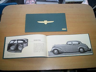 Sunbeam Talbot 4-Litre Original UK Prestige Sales Brochure circa 1939