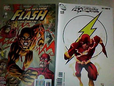 THE FLASH # 8  Reverse Flash Rebirth & # 9 Road to Flashpoint RARE set