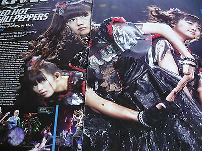 Babymetal/red Hot Chili Peppers - Magazine Cutting (2 Page Review)  (Ref 1E)