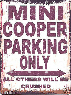 LAMBRETTA PARKING SIGN RETRO VINTAGE STYLE 8x10in 20x25cm garage workshop art