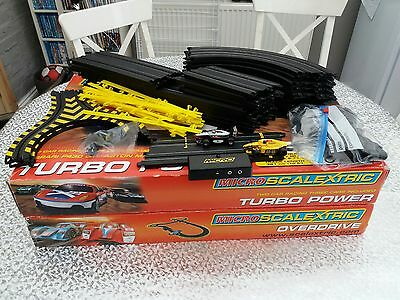 Micro Scalextric Boxed Set x 2 + Additional track and cars - Excellent Condition