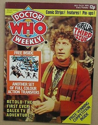 Dr Doctor Who Weekly Comic Magazine No 3 October 1979 from Marvel Comics