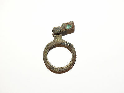 Perfect Bronze Roman Type Key - Ring #2. Goths. ca 2-4 AD