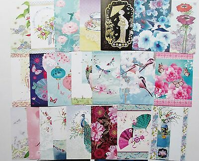 Hunkydory Little Book of The Orient Card Toppers x 24 Sheets